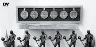 Ein Traum für jeden Bodybuilder: Dorian Yates bringt seine sechs Mr. Olympia Trophäen (Sandow) zur FIBO 2018!