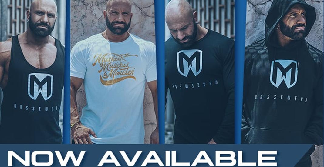 Massepimmel T Shirt & Co.: Steve Benthins MASSEWEAR exklusiv